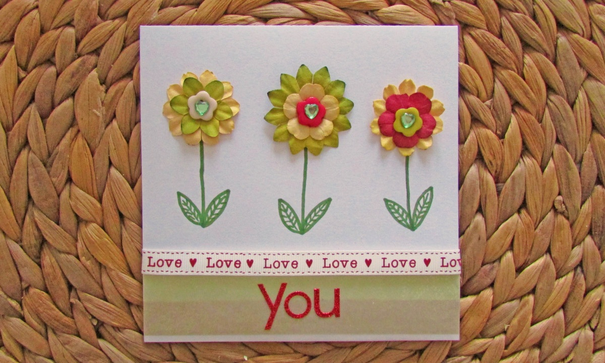 How to Make a Floral Valentines Card