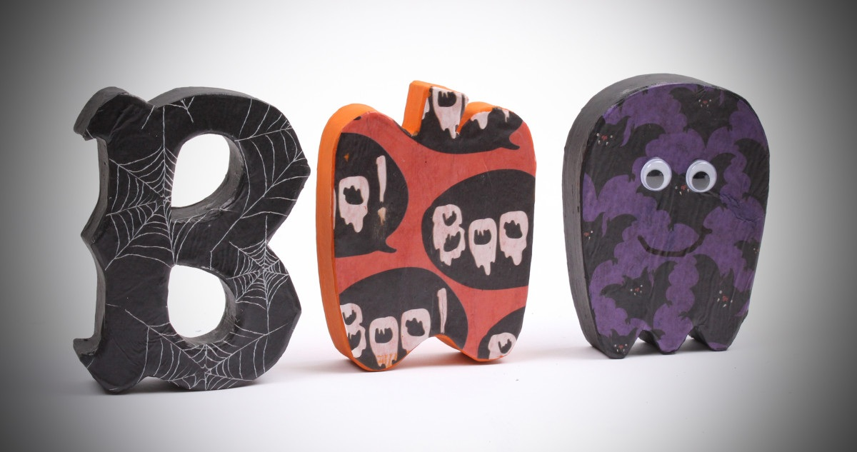 How to Make Boo Paper Mache Letters