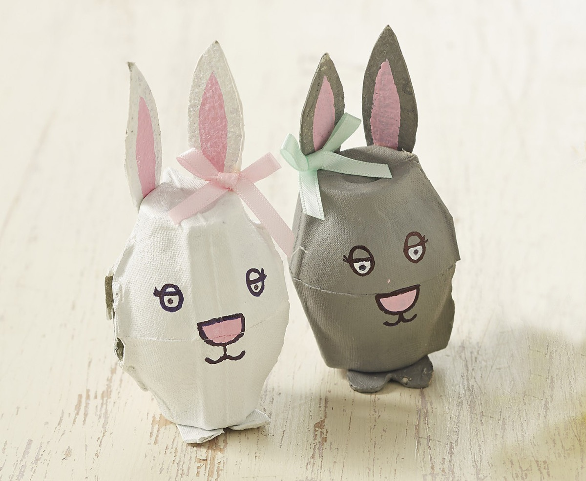 How to Make Egg Box Easter Bunnies