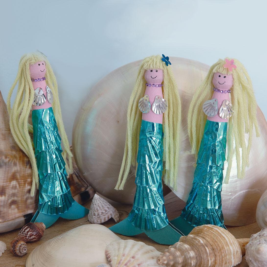 How to Make Mermaid Peg Dolls