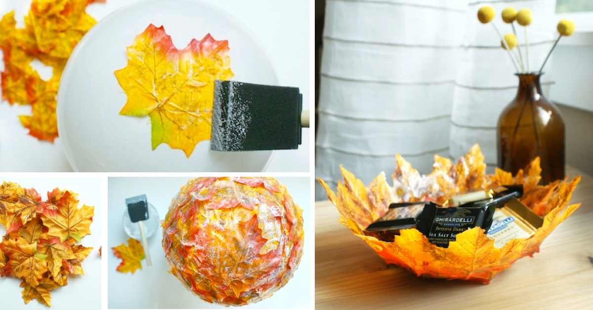 Bring Home The Magic Of Fall With this DIY Autumn Leaf Bowl