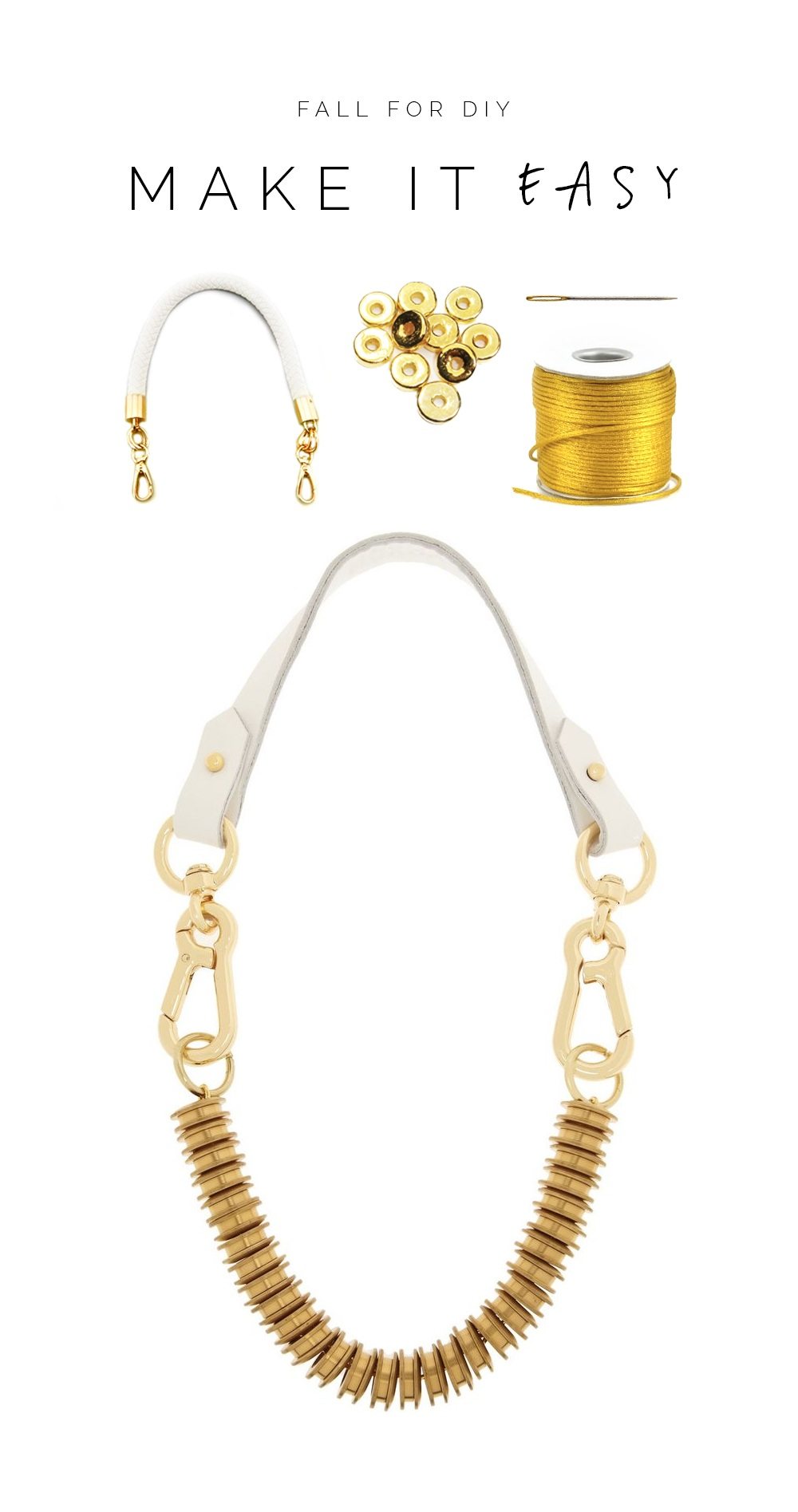 Make it Easy Gold Washer Necklace