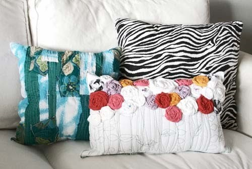 Recycled Roses Pillow Tutorial