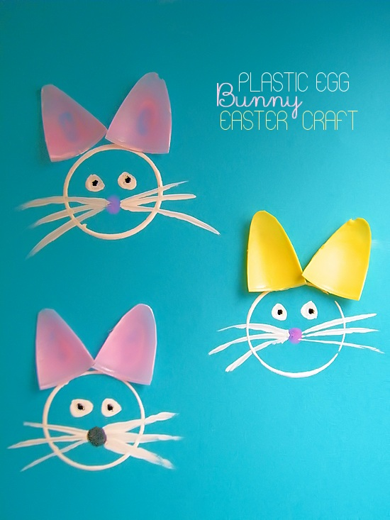 Plastic Egg Bunnies Easter Craft