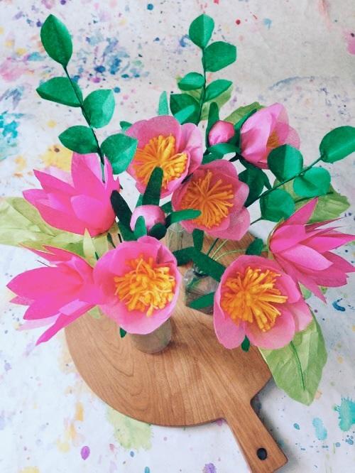 DIY Project Paper Flower Bouquet