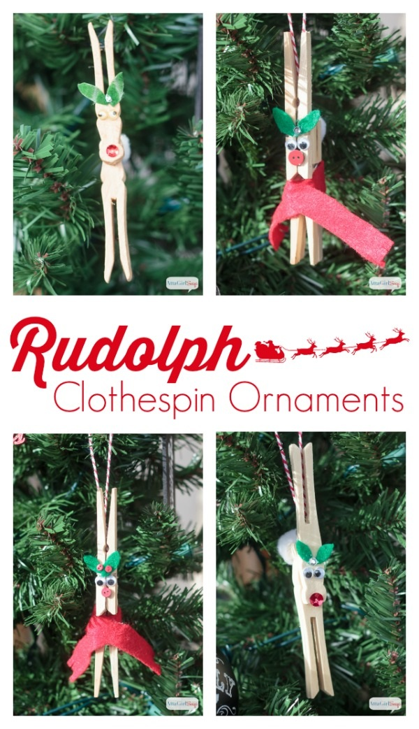 DIY Reindeer Clothespin Ornaments