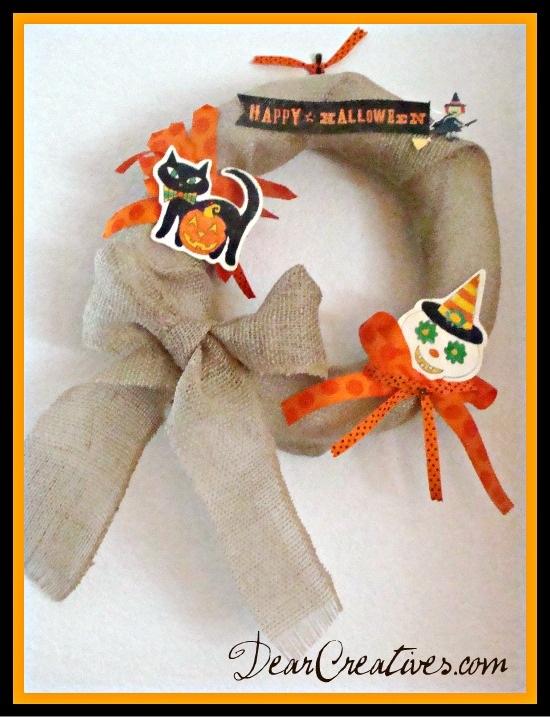 Halloween Wreath DIY & Feature Friday