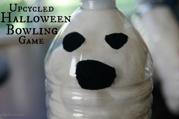 Upcycled Halloween Bowling Game Craft for Kids