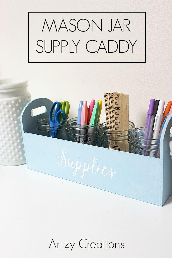 Mason Jar Supply Caddy