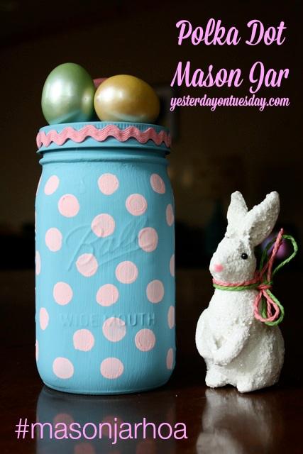 Polka Dot Mason Jar