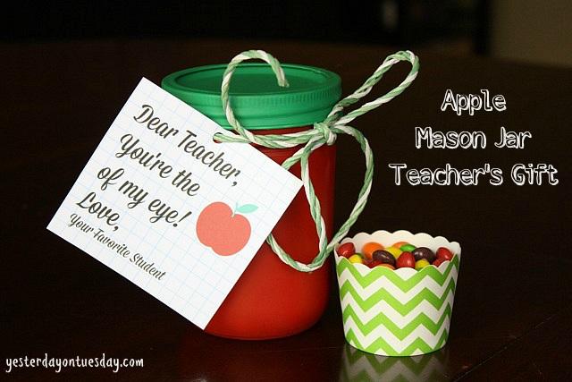 Apple Mason Jar Teacher's Gift