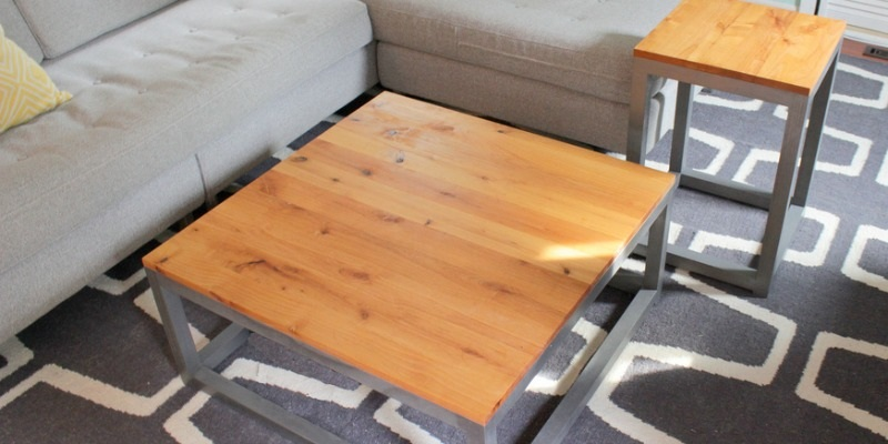Build A Modern Coffee Table and Matching End Tables