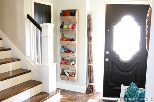 DIY Rustic Wall Storage Bins