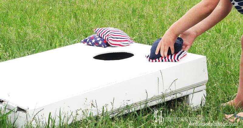 Budget Friendly DIY Cornhole Set from a Pallet