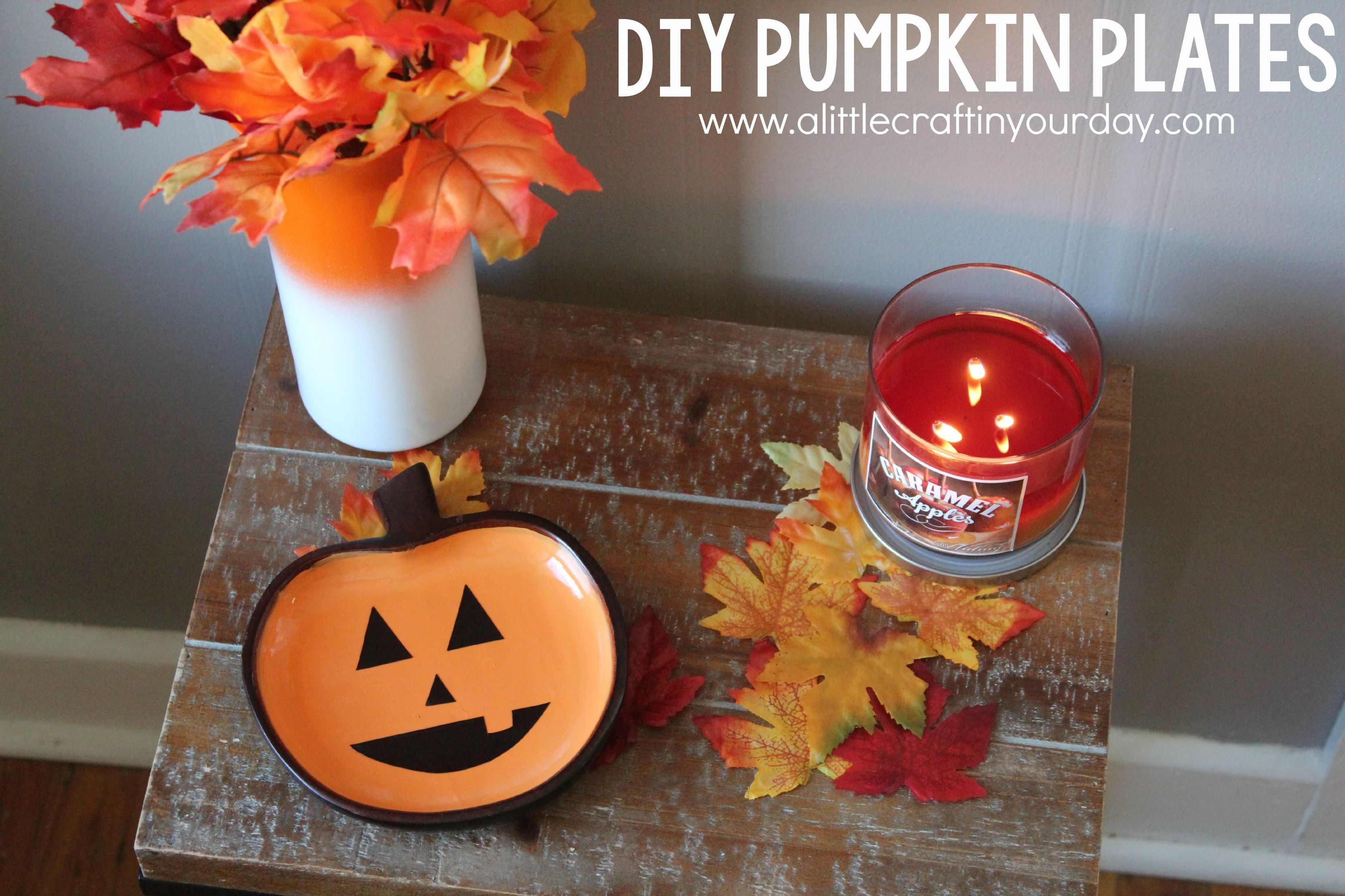 DIY Pumpkin Plates