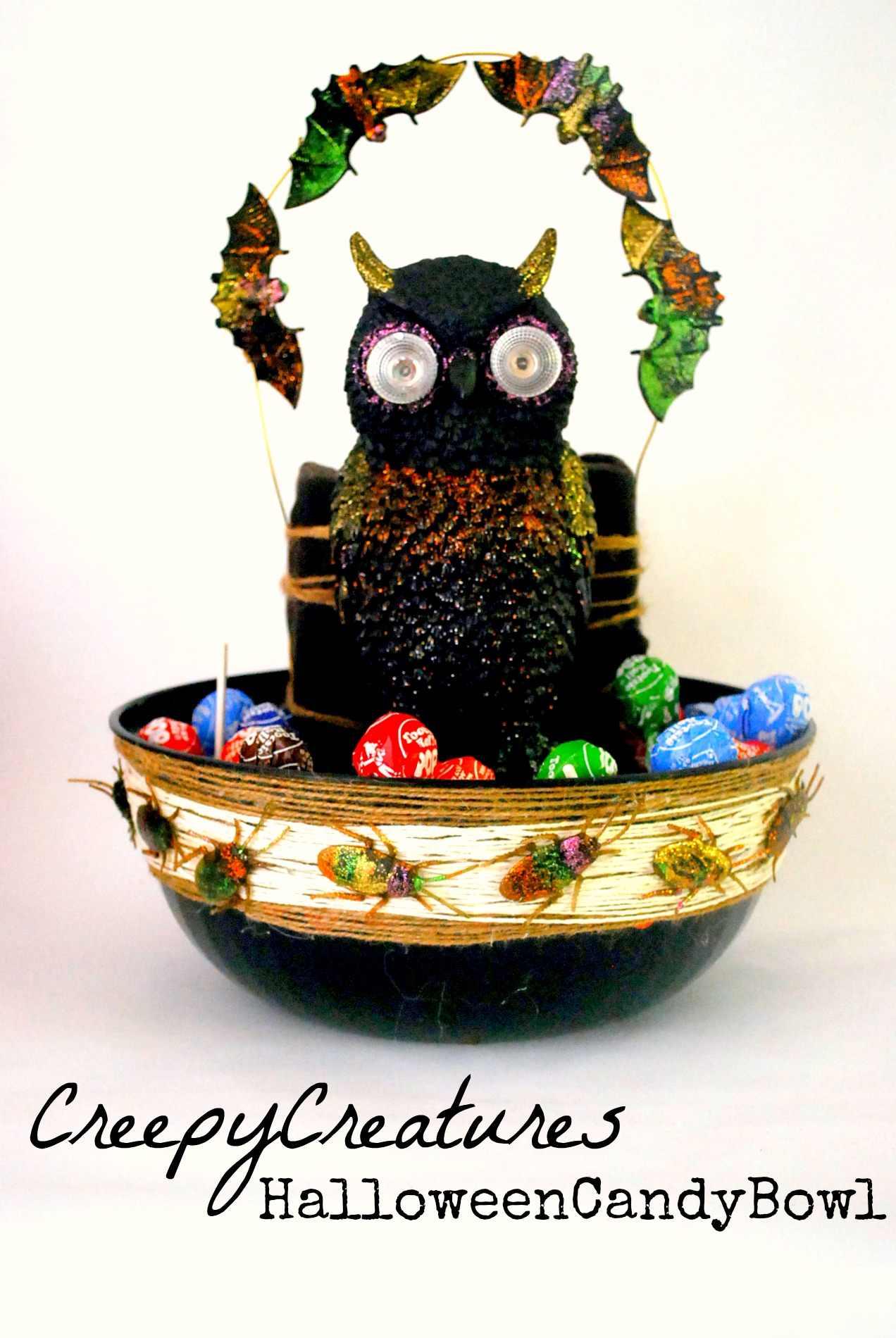 Creepy Creatures Halloween Candy Bowl