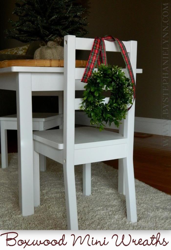 Make Your Own Mini Boxwood Wreaths {Ballard Inspired Chair Back Wreaths}