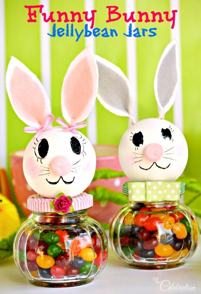 Funny Bunny Jellybean Jars