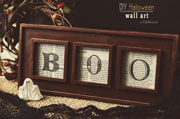 How to Make Framed Boo Art (Halloween Craft)