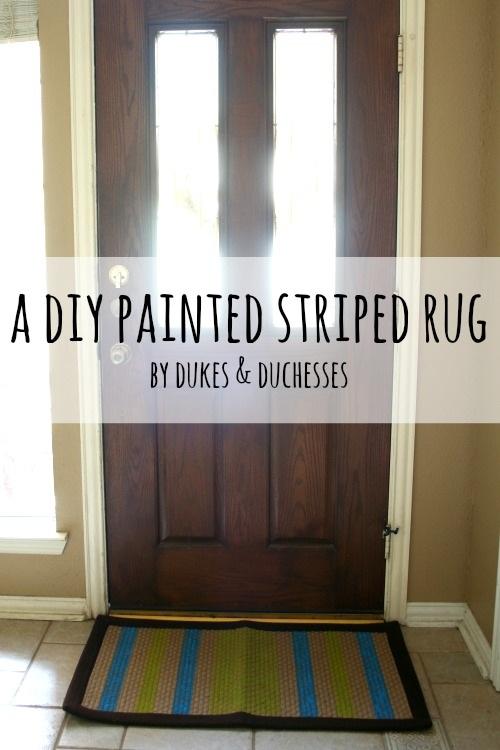 A DIY Painted Rug