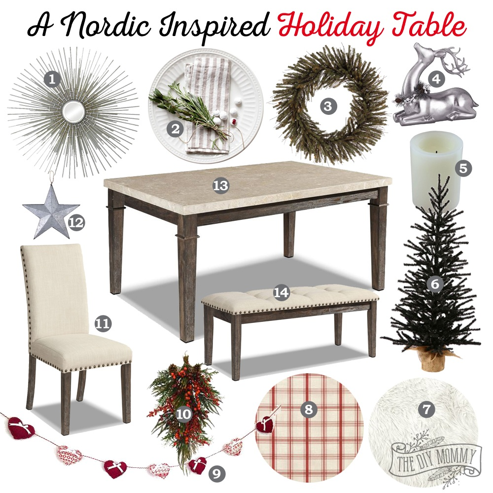 Mood Board A Nordic Inspired Holiday Table