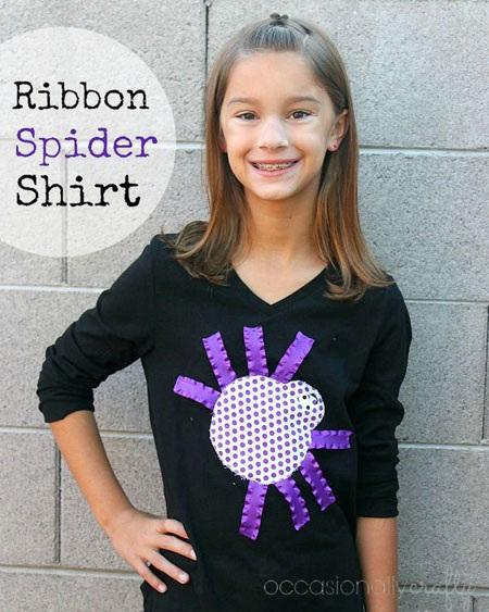 Super Cute Ribbon Spider Halloween Shirt