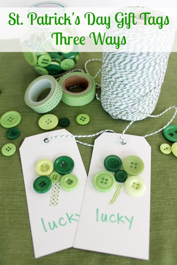Do You Feel Lucky DIY St Patricks Day Gift Tags
