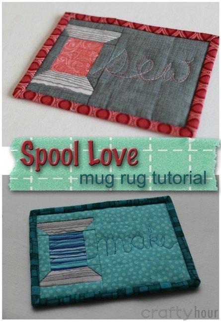Spool Love Sewing Mug Rug Pattern So Sew Easy