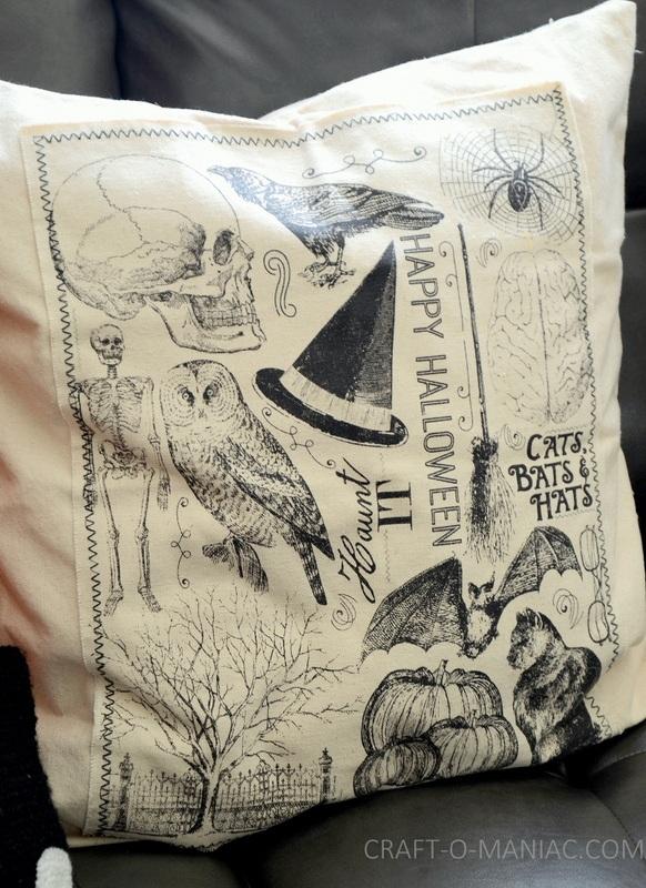 DIY Halloween Canvas Pillow