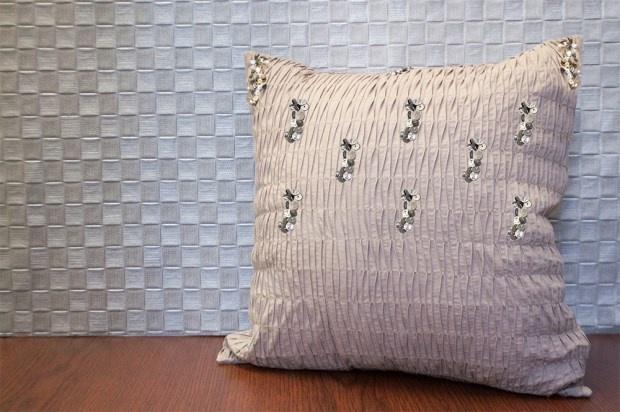DIY Embellished Pillow