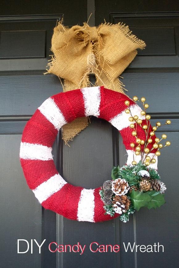 DIY Candy Cane Wreath