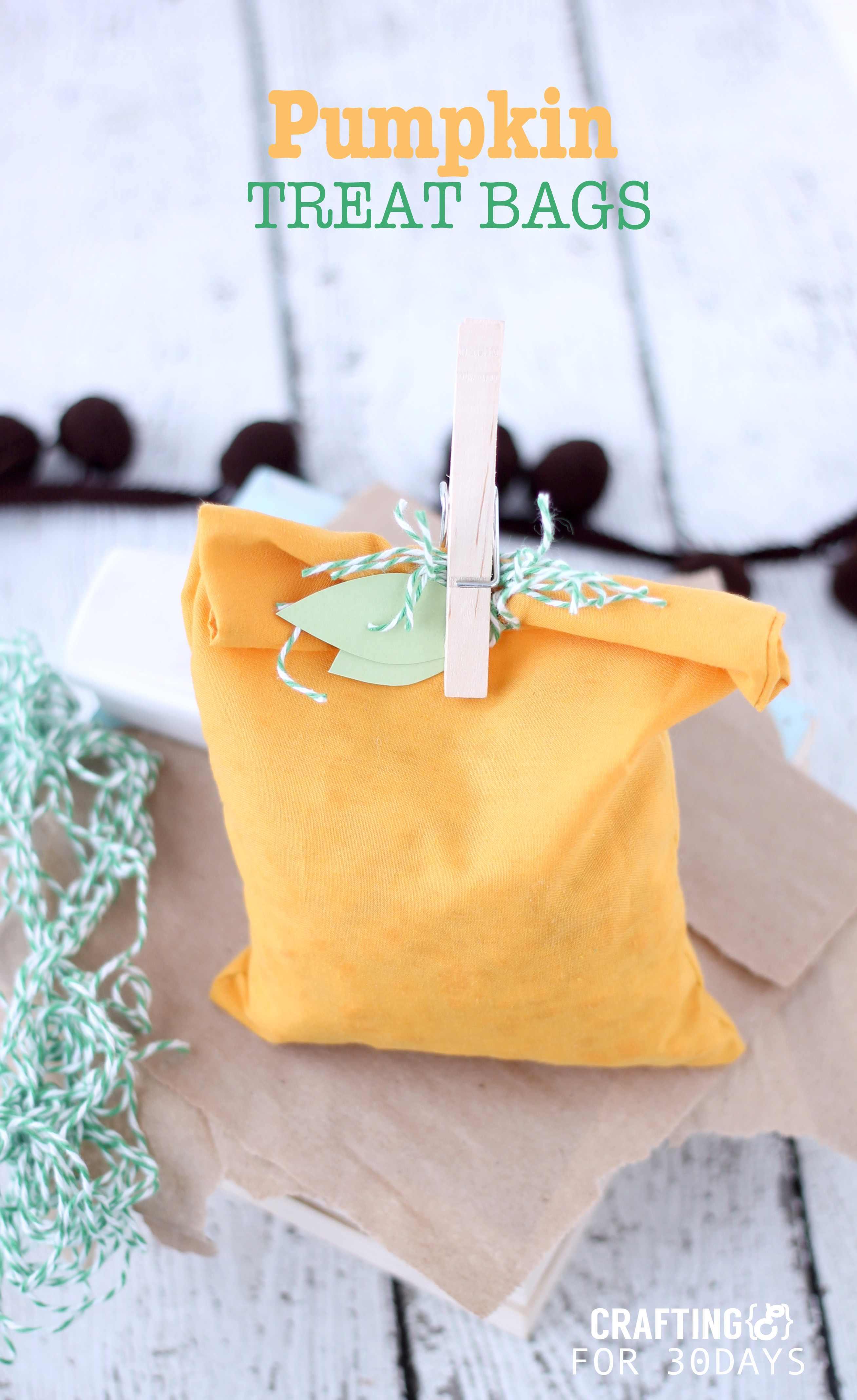 Simple Pumpkin Treat Bags