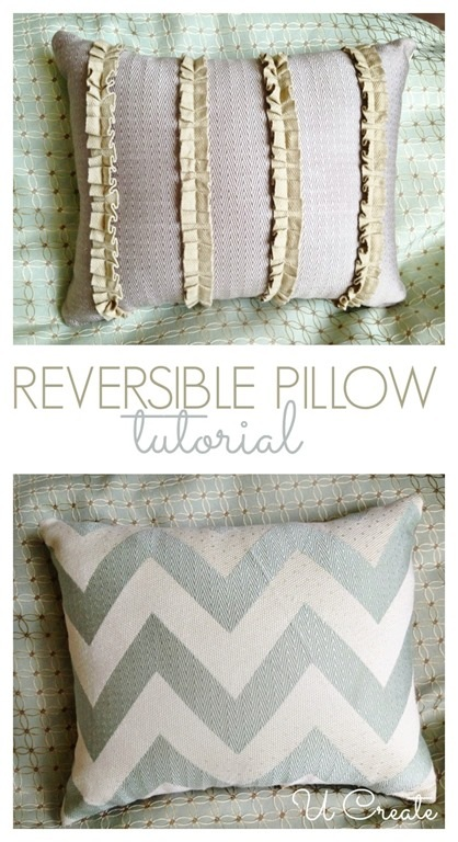 Reversible Throw Pillow Tutorial U Create