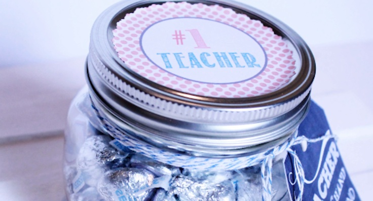 Teacher Appreciation Hershey Kiss Gift Jar