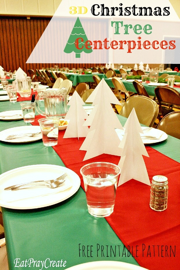 3D Paper Christmas Tree Centerpieces