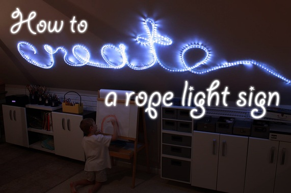 How to Create Rope Light Word Wall Art