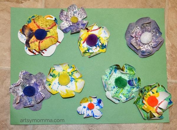 Preschool Activities 3D Flower Art