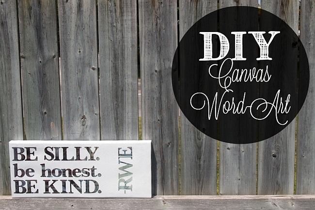 DIY Canvas Word Art Project
