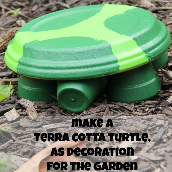 Making a Terra Cotta Turtle Garden Decorations