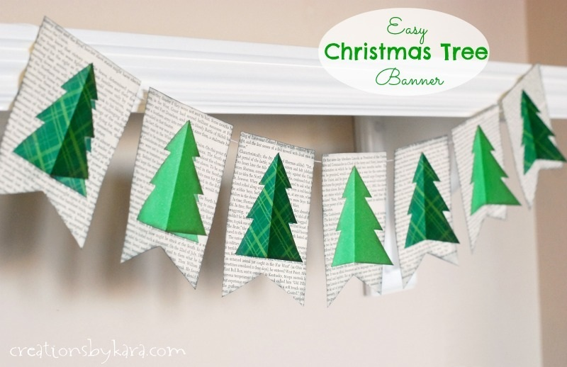 Easy Christmas Decor Christmas Tree Banner