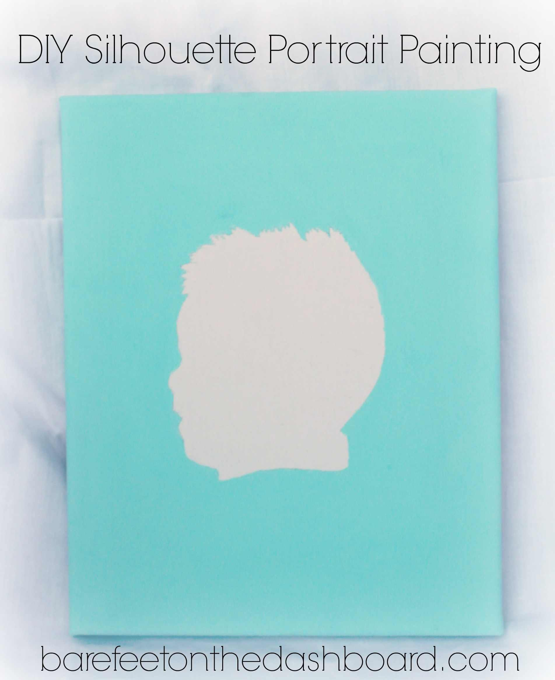 Create a DIY Silhouette Portrait Painting with Tutorial
