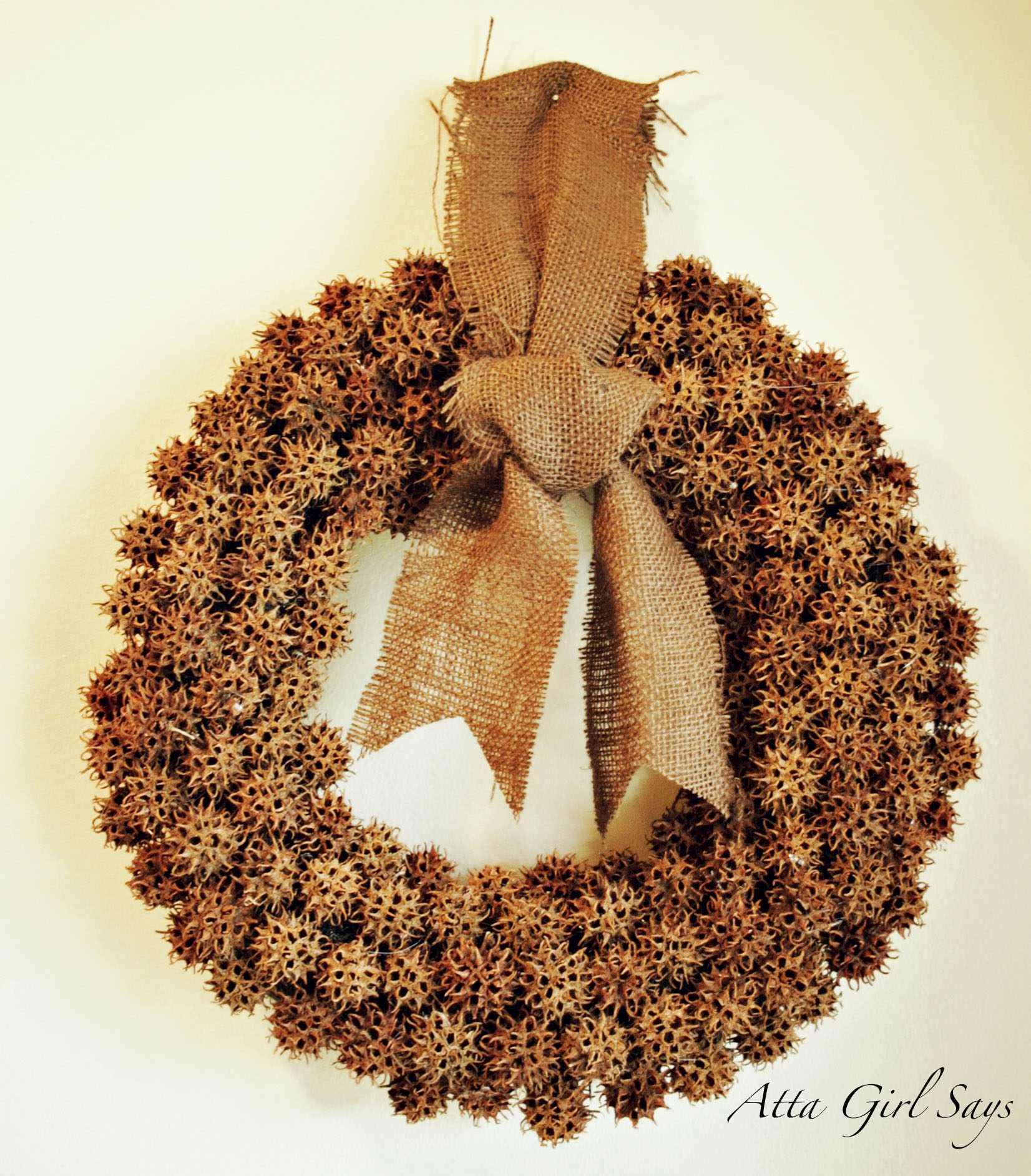 Sweet Gum Ball Wreath Tutorial
