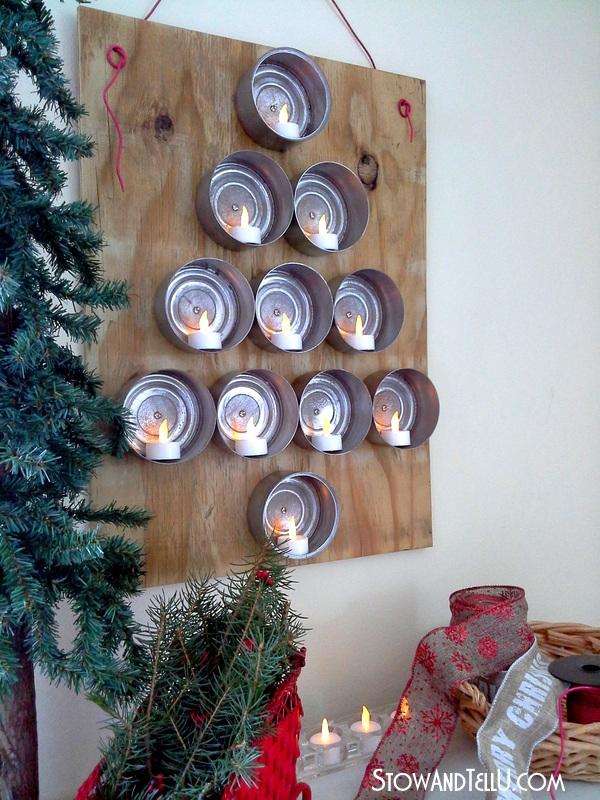 Lighted Tuna Can Christmas Tree Stow&TellU