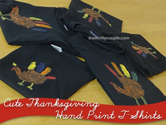 Cute Hand Print Turkey T Shirts for Thanksgiving