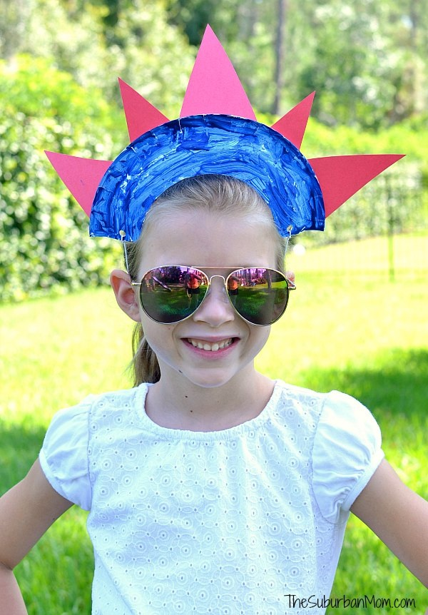 4th of July Paper Plate Crown