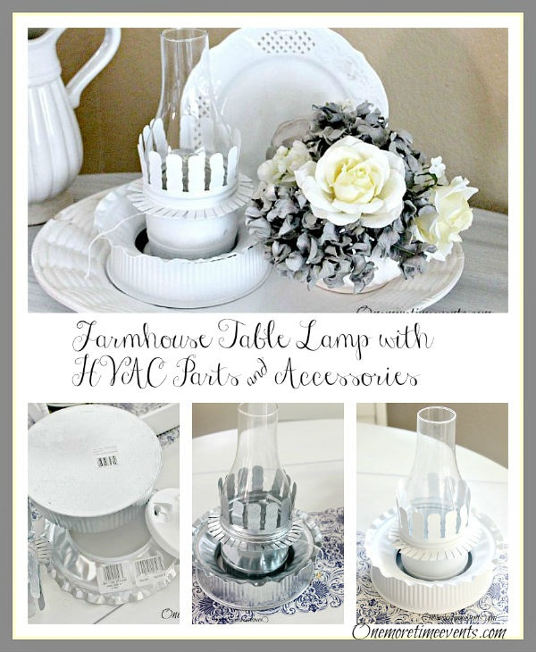 Farmhouse Table Lamp with HVAC Parts & Accessories