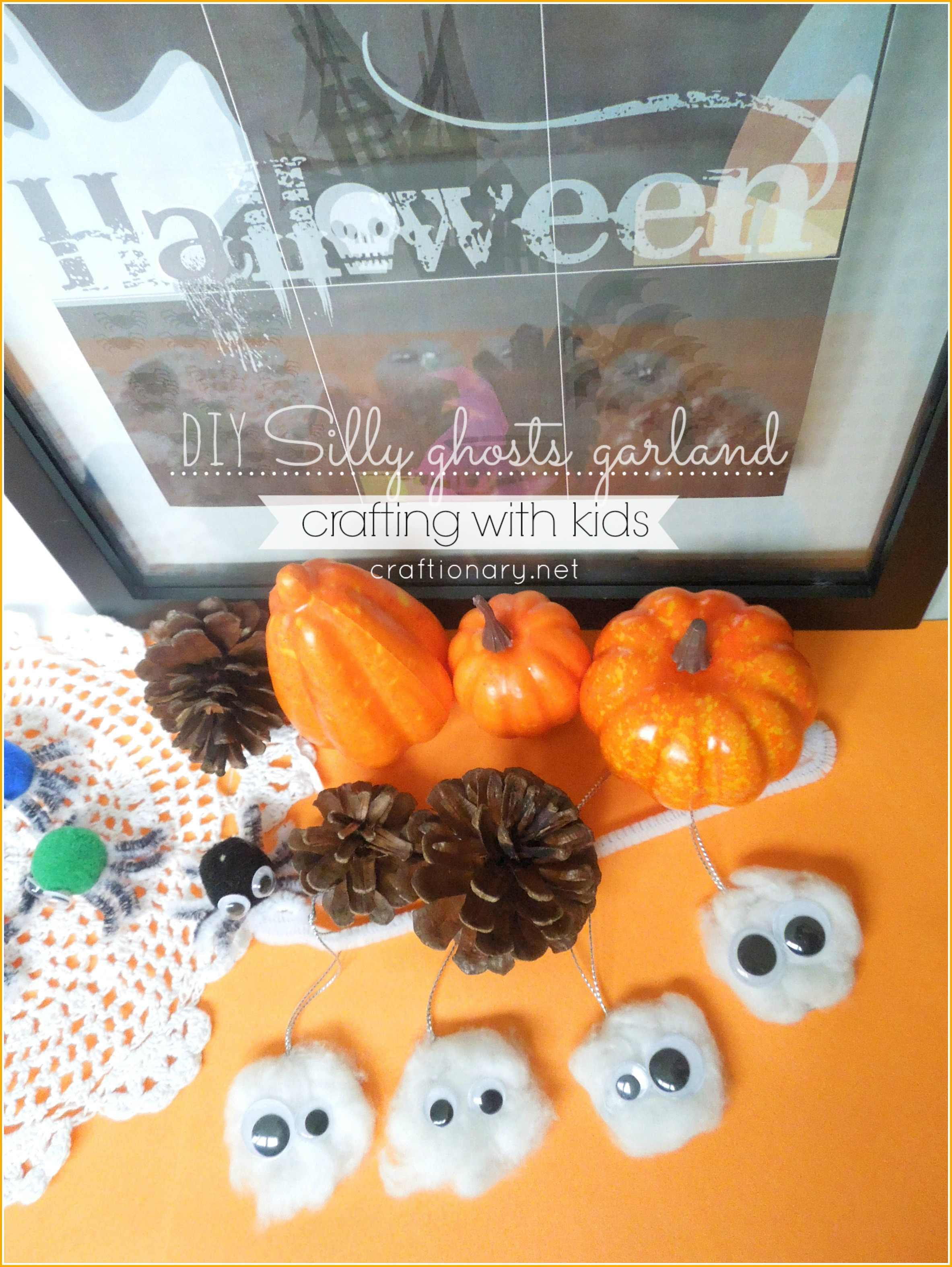 Silly ghosts garland (Crafting with kids)
