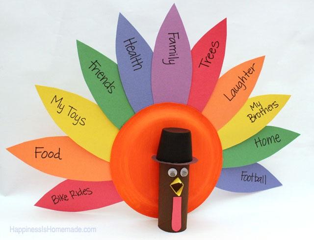 Thanksgiving Kids Craft Gratitude Turkeys