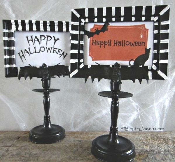 Easy DIY Halloween Candlestick Frames