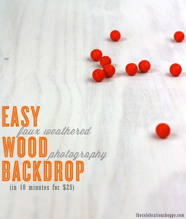 Easy weathered wood photo backdrop